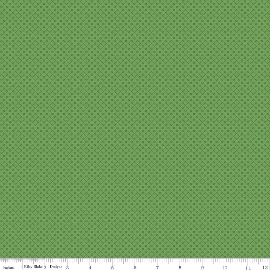 SALE Clover Green Kisses Tone on Tone by Riley Blake Designs - Basic Coordinate - Quilting Cotton Fabric - choose your cut