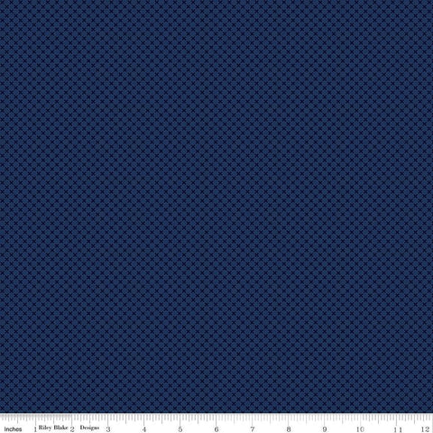 SALE Navy Blue Kisses Tone on Tone by Riley Blake Designs - Basic Coordinate - Quilting Cotton Fabric