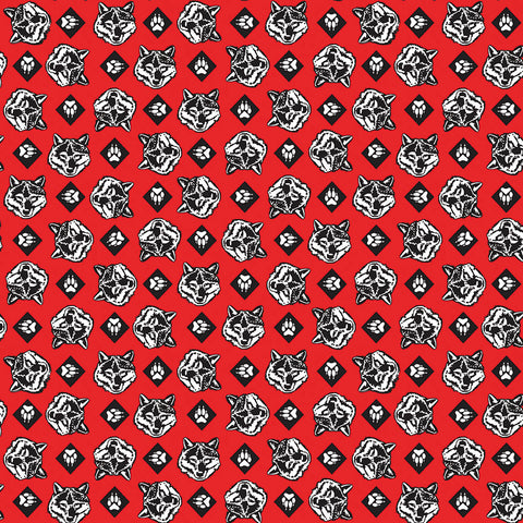SALE Cub Scouts Wolf Red - Riley Blake Designs - Boy Scouts Paws - Quilting Cotton Fabric