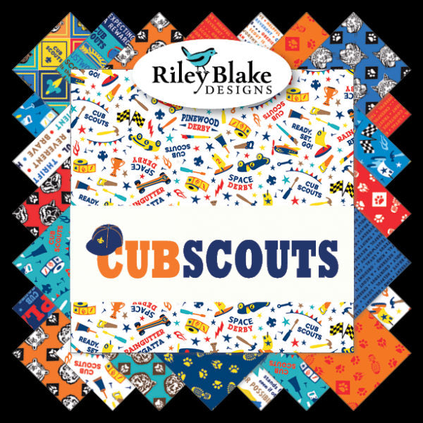 SALE Cub Scouts Fat Quarter Bundle 17 pieces - Riley Blake Designs - Pre cut Precut Boy Scouts - Quilting Cotton Fabric