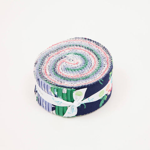Derby Day 2.5 Inch Rolie Polie Jelly Roll 40 pieces Riley Blake Designs - Precut Pre cut Bundle Horses Floral - Quilting Cotton Fabric