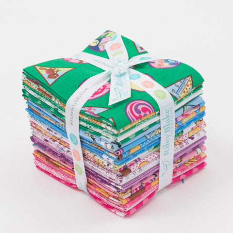 SALE Girl Scouts Fat Quarter Bundle 23 pieces - Riley Blake Designs - Pre cut Precut Scouting - Quilting Cotton Fabric - Free US Shipping