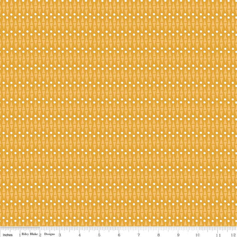 SALE Lancelot Geo Mustard Yellow - Riley Blake Designs - Geometric - Quilting Cotton Fabric
