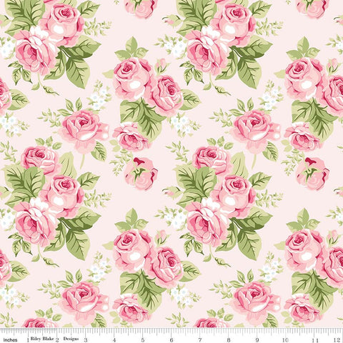 Love Story Main Pink - Riley Blake Designs - Floral Flowers - Quilting Cotton Fabric - choose your cut