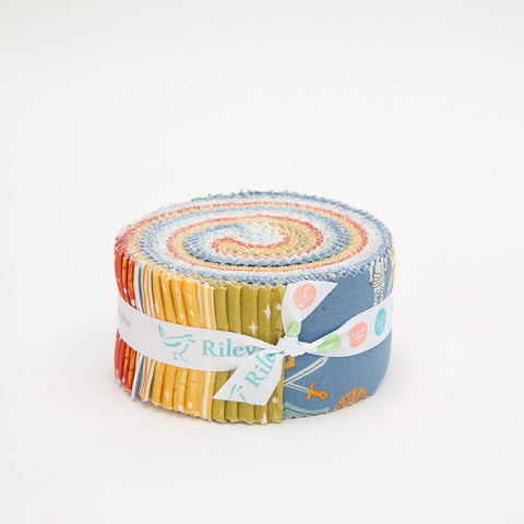 Lancelot 2.5 Inch Rolie Polie Jelly Roll 40 pieces Riley Blake Designs - Precut Pre cut Bundle - Knights - Quilting Cotton Fabric