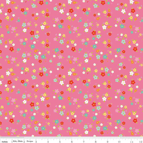 Bloom Where You're Planted Floral Pink - Riley Blake Designs - Flowers - Quilting Cotton Fabric - choose your cut