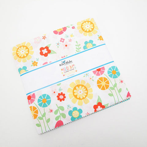 "SALE Bloom Where You're Planted Layer Cake 10"" Stacker Bundle - Riley Blake Designs - 42 piece Precut Pre cut - Quilting Cotton Fabric"