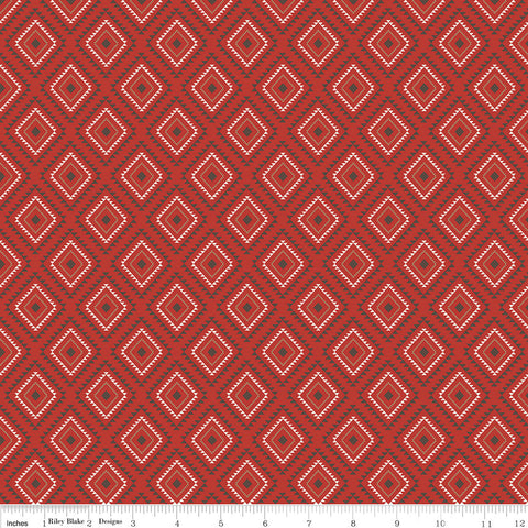 SALE High Adventure 2 Aztec Red - Riley Blake Designs - Quilting Cotton Fabric
