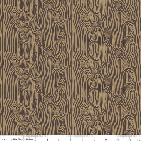 High Adventure 2 Woodgrain Brown - Riley Blake Designs - Wood - Quilting Cotton Fabric