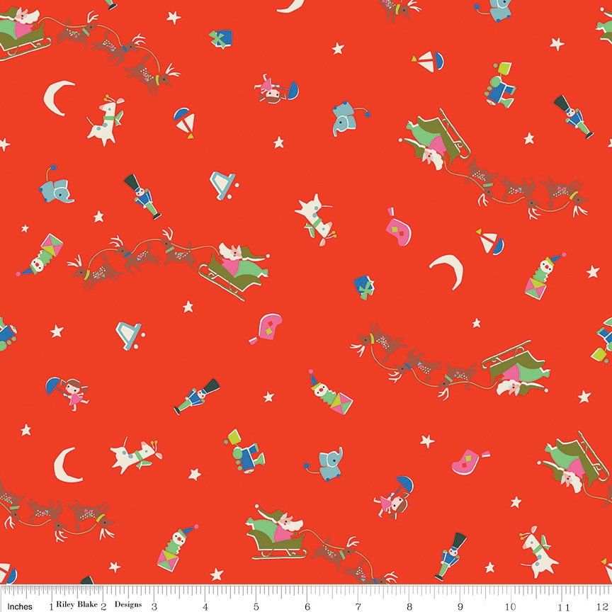 Way Up North Flight Red - Riley Blake Designs - Christmas - Quilting Cotton Fabric