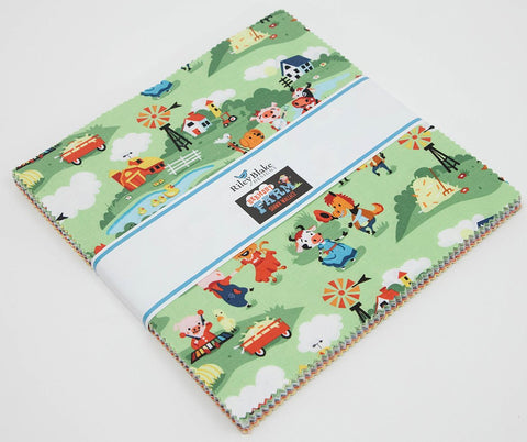 "Harmony Farm Collection - Layer Cake 10"" Stacker Bundle  - Riley Blake Designs - 42 piece Precut - Pre cut - Quilting Cotton Fabric"