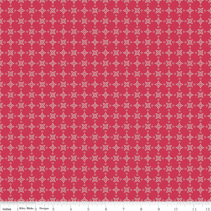 Boots and Spurs Bandana Red - Riley Blake Designs - Quilting Cotton Fabric - choose your cut