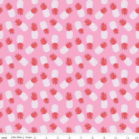 f8bc71003ff1 SALE Club Havana Pineapple Pink by Riley Blake Designs - Fruit - Jersey  KNIT cotton lycra