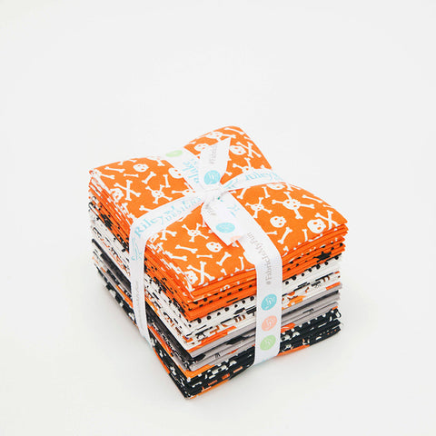 Cats Bats and Jacks Fat Quarter Bundle 21 pieces - Riley Blake Designs - Pre cut Precut - Quilting Cotton Fabric - Free US Shipping