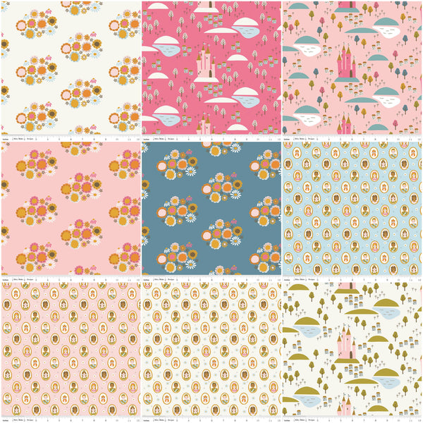 "CLEARANCE Guinevere Layer Cake 10"" Stacker Bundle - Riley Blake Designs - 42 piece Precut Pre cut - Princess - Quilting Cotton Fabric"