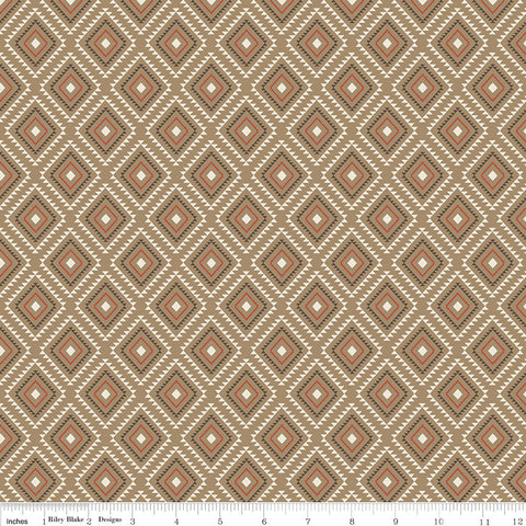 High Adventure 2 Aztec Tan - Riley Blake Designs - Brown - Quilting Cotton Fabric