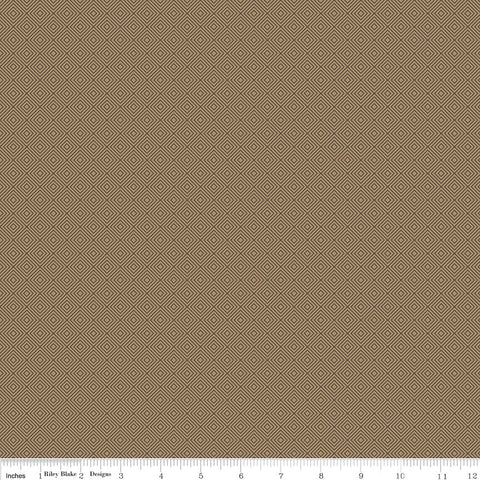 High Adventure 2 Diamonds Tan - Riley Blake Designs - Brown - Quilting Cotton Fabric