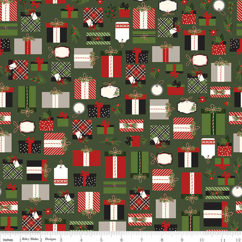 Fat Quarter Lost /& Found Christmas Santa Red Quilting Fabric Riley Blake