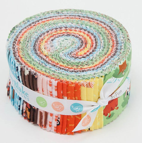 SALE Harmony Farm 2.5-Inch Rolie Polie Jelly Roll 40 pieces Riley Blake Designs - Precut Bundle - Quilting Cotton Fabric