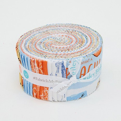 SALE James and the Giant Peach 2.5-Inch Rolie Polie Jelly Roll 40 pieces Riley Blake Designs - Precut Bundle - Quilting Cotton Fabric