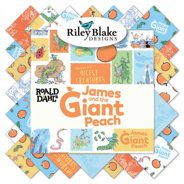 CLEARANCE James and the Giant Peach 2.5-Inch Rolie Polie Jelly Roll 40 pieces Riley Blake Designs - Precut Bundle - Quilting Cotton Fabric