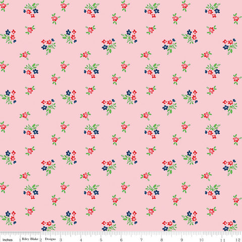 Seaside Bouquet Pink - Riley Blake Designs  - Floral Flowers - Quilting Cotton Fabric - choose your cut
