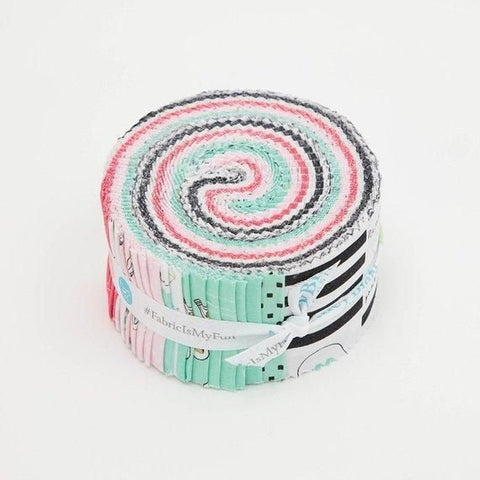 Shine Bright 2.5 Inch Rolie Polie Jelly Roll 40 pieces Riley Blake Designs - Precut Pre cut Bundle Gold Sparkle - Quilting Cotton Fabric