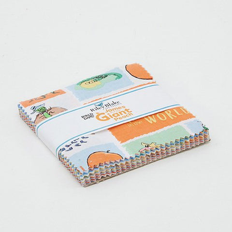 "SALE James and the Giant Peach Charm Pack 5"" Stacker Bundle - Riley Blake Designs - 42 piece Precut Pre cut - Quilting Cotton Fabric"