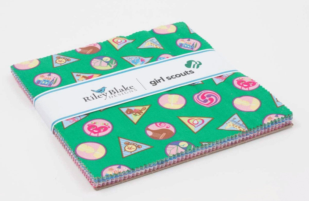"Girl Scouts Layer Cake 10"" Stacker Bundle - Riley Blake Designs - 42 piece Precut Pre cut - Scouting - Quilting Cotton Fabric"