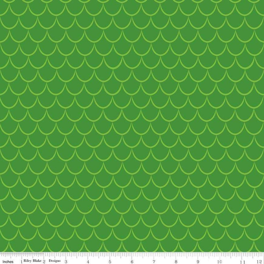 Dragons Scales Green - Riley Blake Designs - Tone on Tone - Quilting Cotton Fabric - choose your cut