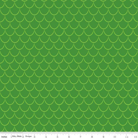 Dragons Scales Green - Riley Blake Designs - Tone on Tone - Quilting Cotton Fabric