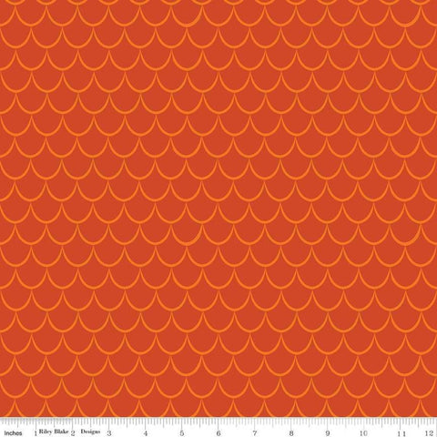 SALE Dragons Scales Orange - Riley Blake Designs - Tone on Tone - Quilting Cotton Fabric