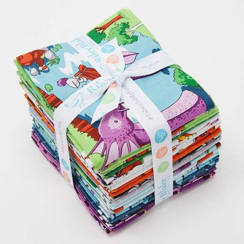 Dragons Fat Quarter Bundle 22 pieces - Riley Blake Designs - Pre cut Precut Knights Castles - Quilting Cotton Fabric - Free US Shipping