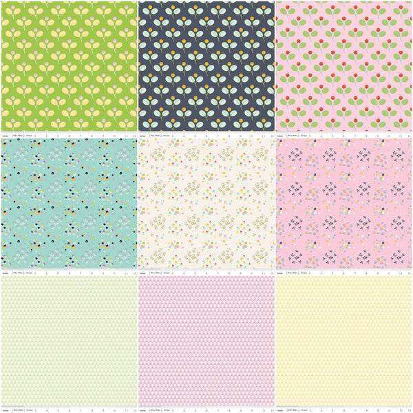 SALE Jubilee Collection 2.5-Inch Rolie Polie Jelly Roll 40 pieces Riley Blake Designs - Precut Bundle - Quilting Cotton Fabric