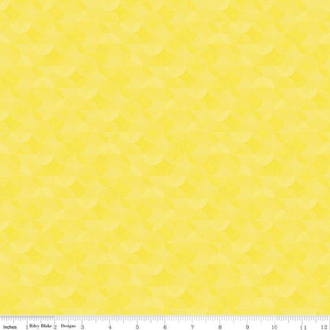 SALE Crayola Kaleidoscope Little Lemon - Riley Blake Designs - Yellow Orange Peel Circle Pattern - Quilting Cotton Fabric