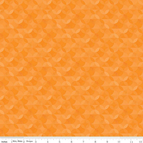 SALE Crayola Kaleidoscope Smashed Pumpkin - Riley Blake Designs - Orange Peel Circle Pattern - Quilting Cotton Fabric