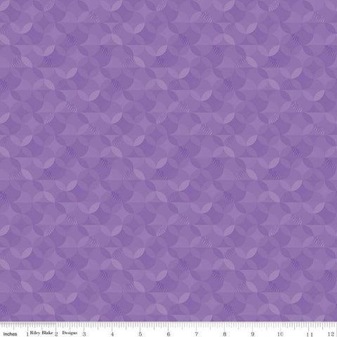 SALE Crayola Kaleidoscope Violet - Riley Blake Designs - Purple Orange Peel Circle Pattern - Quilting Cotton Fabric
