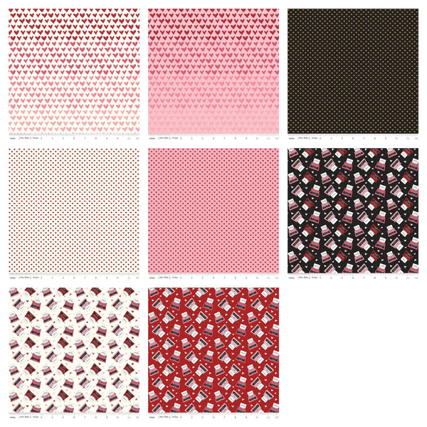 "Hello Sweetheart Charm Pack 5"" Stacker Bundle - Riley Blake Designs - 42 piece Precut Pre cut - Valentine's - Quilting Cotton Fabric"