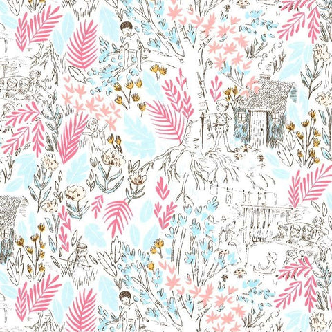 Peter Pan - The Little House - Bloom - Sarah Jane - Michael Miller - Jersey KNIT cotton lycra stretch fabric