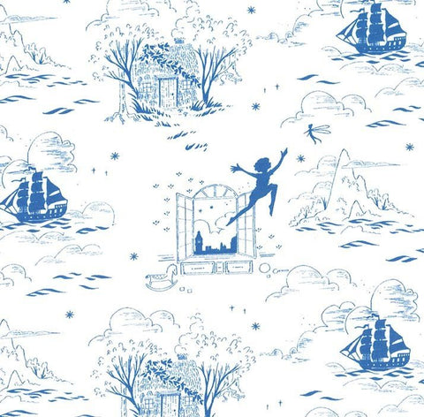 Peter Pan - Second Star to the Right - Wave - Sarah Jane - Michael Miller - Jersey KNIT cotton lycra stretch fabric