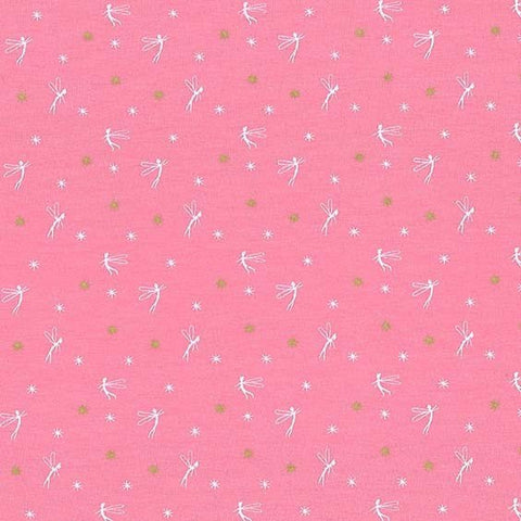 Peter Pan - Tink - Dusty Rose - Sarah Jane for Michael Miller - Tinkerbell Jersey KNIT cotton lycra stretch fabric