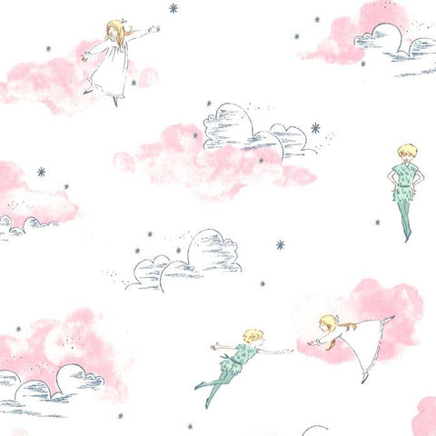 Peter Pan - Peter and Wendy - Blossom - Sarah Jane for Michael Miller - Pink Jersey KNIT cotton lycra stretch fabric