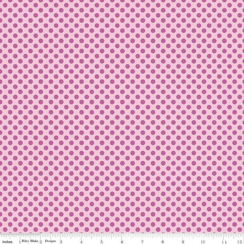 Fairy Garden Dot Pink - Riley Blake Designs - Tone on Tone Polka Dots - Quilting Cotton Fabric