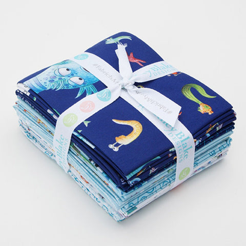 SALE The Pout-Pout Fish Fat Quarter Bundle - 12 Pieces - Riley Blake Designs - Pre cut Precut - Quilting Cotton Fabric