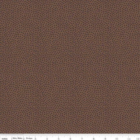Varsity Ball Texture Brown - Riley Blake Designs - Sports Football - Quilting Cotton Fabric
