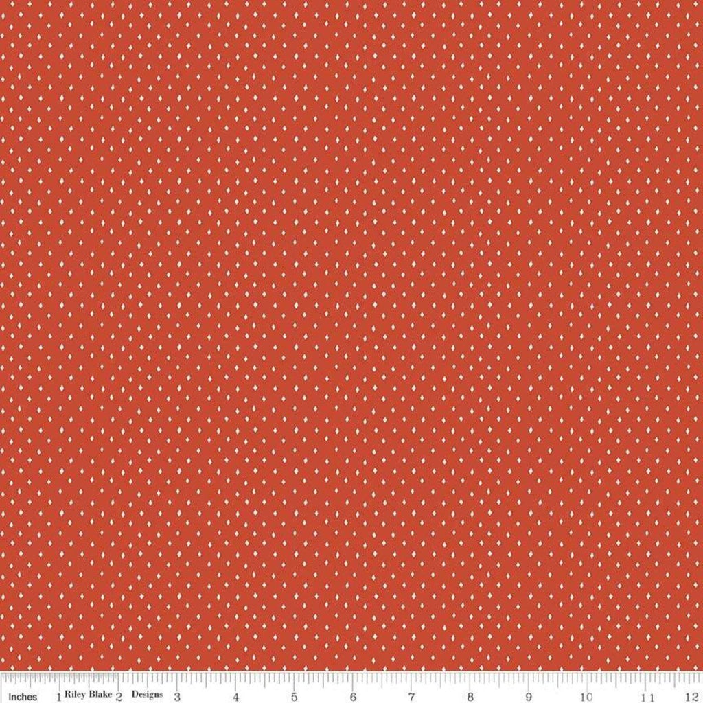 SALE Varsity Diamonds Red - Riley Blake Designs - Sports Football  - Quilting Cotton Fabric