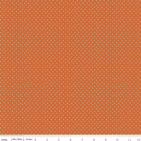 Varsity Diamonds Orange - Riley Blake Designs - Sports Football  - Quilting Cotton Fabric