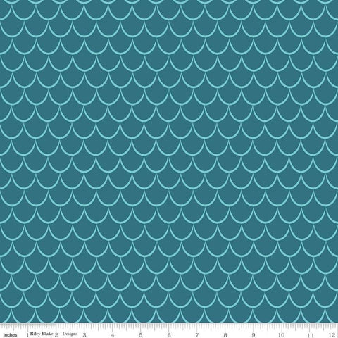 SALE Dragons Scales Blue - Riley Blake Designs - Tone on Tone - Quilting Cotton Fabric