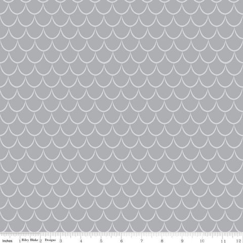 SALE Dragons Scales Gray - Riley Blake Designs - Tone on Tone - Quilting Cotton Fabric