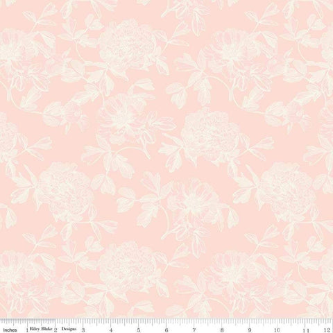 In Bloom Tonal Pink - Riley Blake Designs - Floral Flowers - Quilting Cotton Fabric